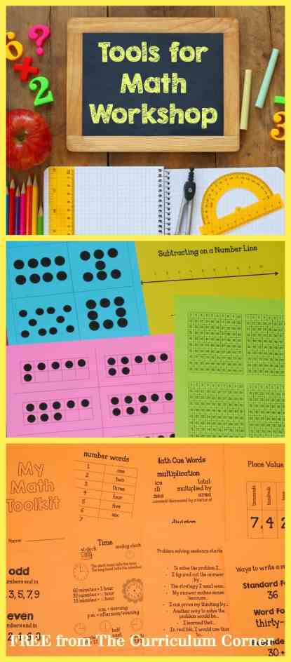 FREEBIE tools for your math workshop from The Curriculum Corner