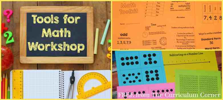 FREE tools for your math workshop from The Curriculum Corner