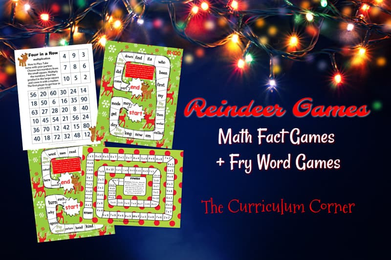These December centers are reindeer games centers designed for math and Fry word practice. Perfect for morning centers in December!