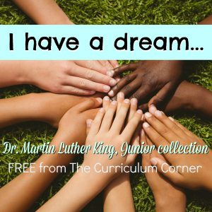FREE collection of Dr. Martin Luther King, Jr. literacy resources created by The Curriculum Corner | Black History Month | FREEBIES | literacy activities