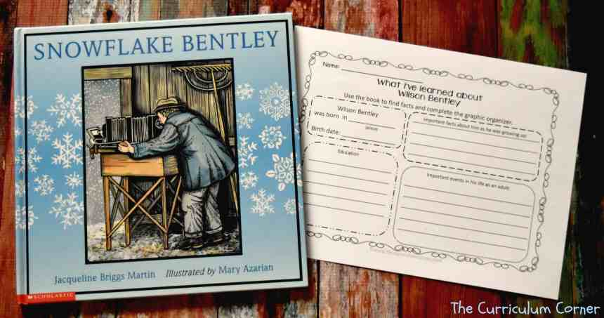 FREE Snowflake Bentley Book Study from The Curriculum Corner FREEBIE