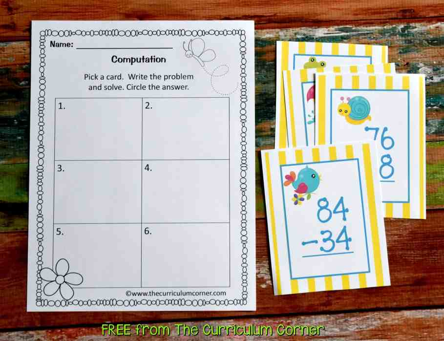 FREE Spring Centers for Math & Literacy from The Curriculum Corner | FREEBIE