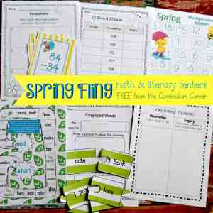 FREE Spring Centers for Math & Literacy