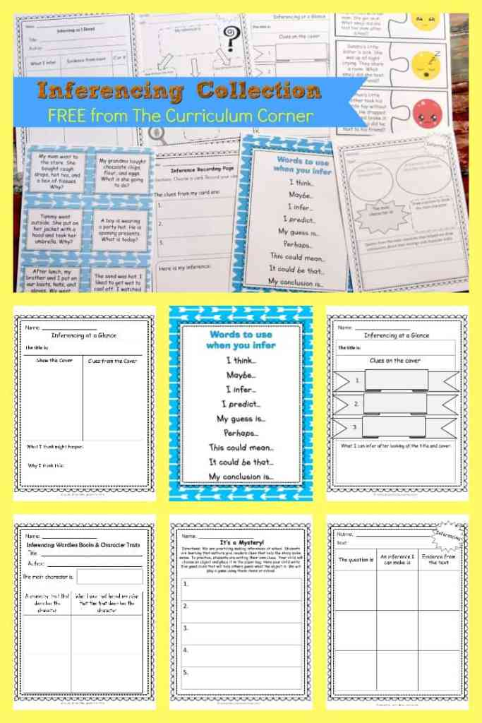 FREE Inferencing Activities Collection by The Curriculum Corner 5
