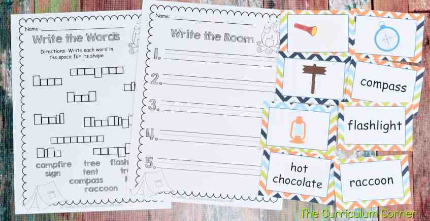 Camping Classroom Theme | FREE Camping Literacy Pack from The Curriculum Corner 3