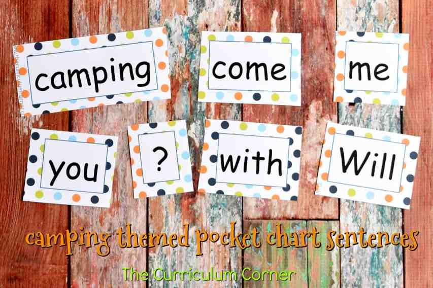 Camping Classroom Theme | FREE Camping Literacy Pack from The Curriculum Corner 2
