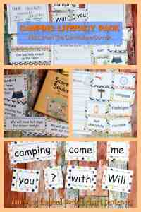Camping Classroom Theme | FREE Camping Literacy Pack from The Curriculum Corner FREEBIE