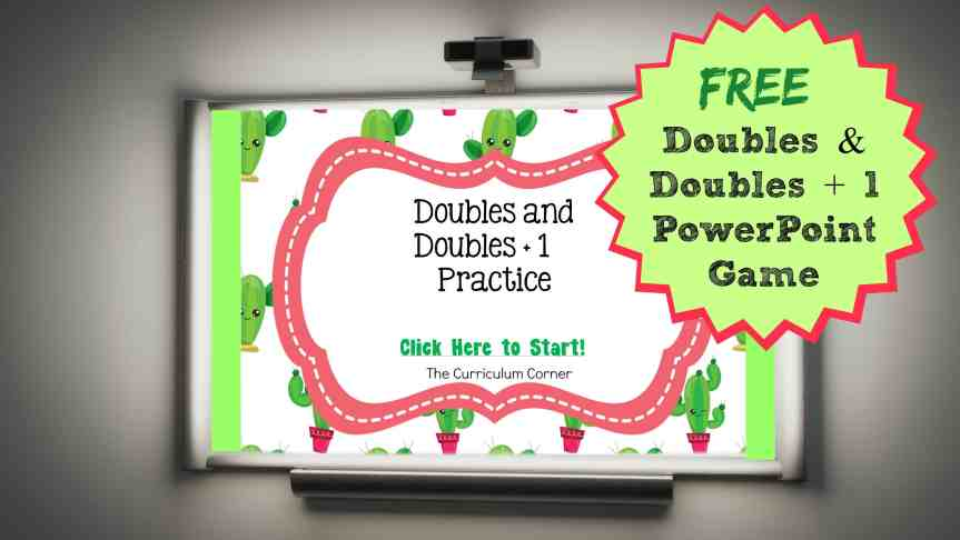 FREE Doubles and Doubles + 1 PowerPoint Game | Doubles Facts | The Curriculum Corner
