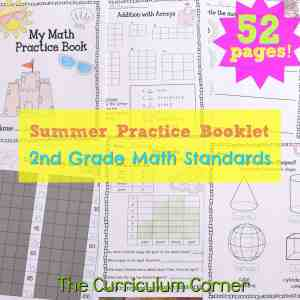FREE Summer Math Practice Booklet from The Curriculum Corner