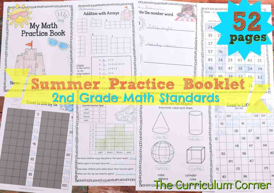 FREE Summer Math Practice Booklet from The Curriculum Corner 2