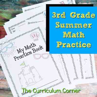FREE 3rd Grade Standards Summer Math Practice Booklet from The Curriculum Corner feature