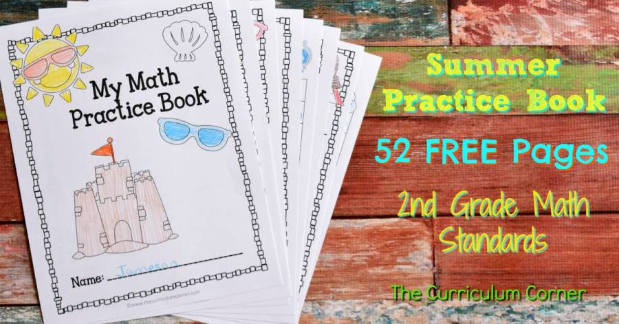 FREE Summer Math Practice Booklet from The Curriculum Corner 3