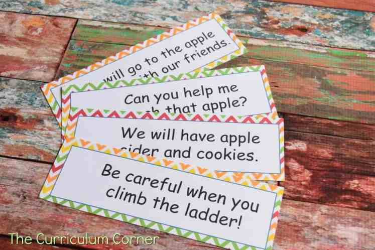 FREE Apple Picking Word Work from The Curriculum Corner 3