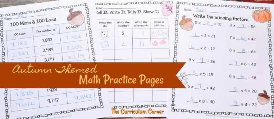 FREE fall math & fall literacy center activities from The Curriculum Corner 2