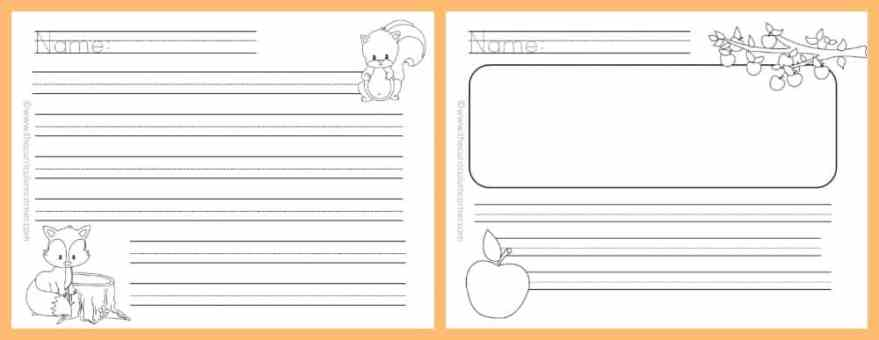 fall lined writing papers the curriculum corner   fall lined papers for writing workshop from the curriculum corner 5