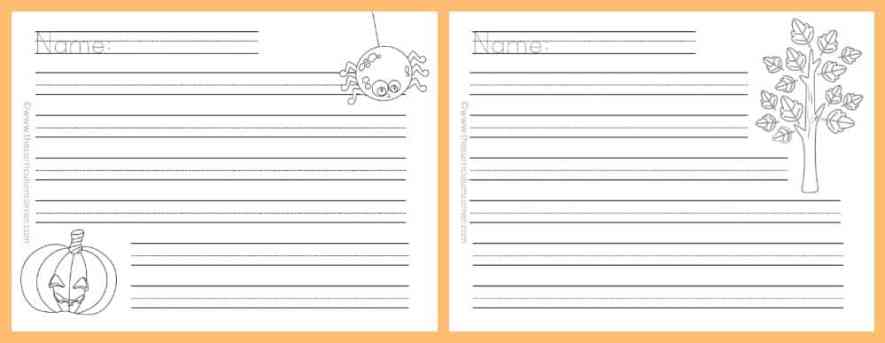 FREE Fall Lined Papers for Writing Workshop from The Curriculum Corner 6