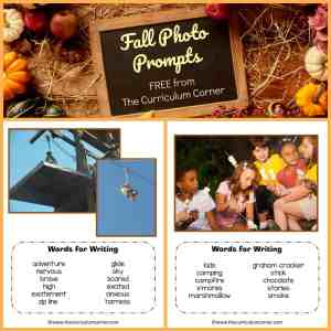 FREE Fall Photo Prompts for Writing from The Curriculum Corner 2