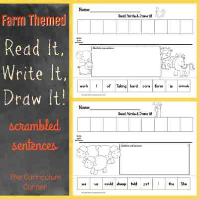 On the Farm Read, Write & Draw It!