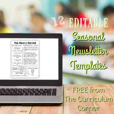 Editable, Seasonal Newsletter Templates