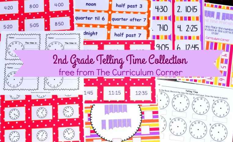 FREE Telling Time Resources for 2nd Grade Math | The Curriculum Corner | Centers 3