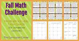 FREE Fall Problem Solving Challenge Problems from The Curriculum Corner