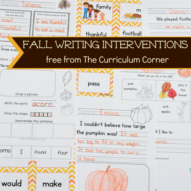 Fall Writing Interventions
