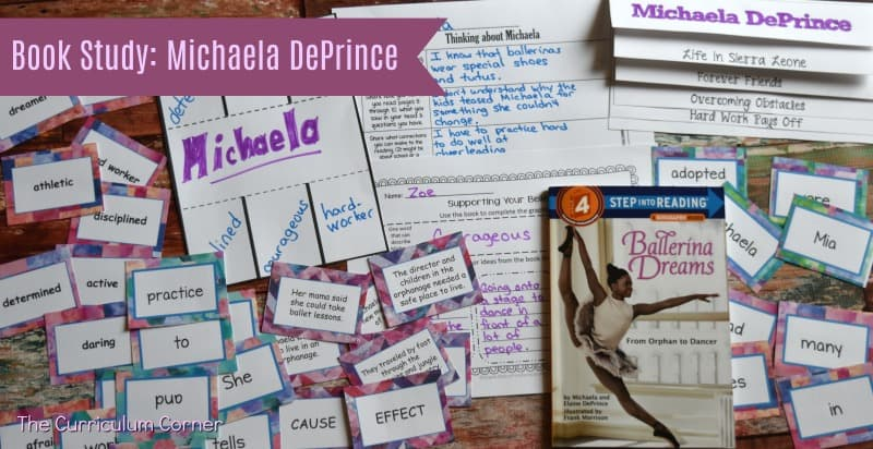 FREE Book Study Ballerina Dreams about Michaela DePrince from The Curriculum Corner