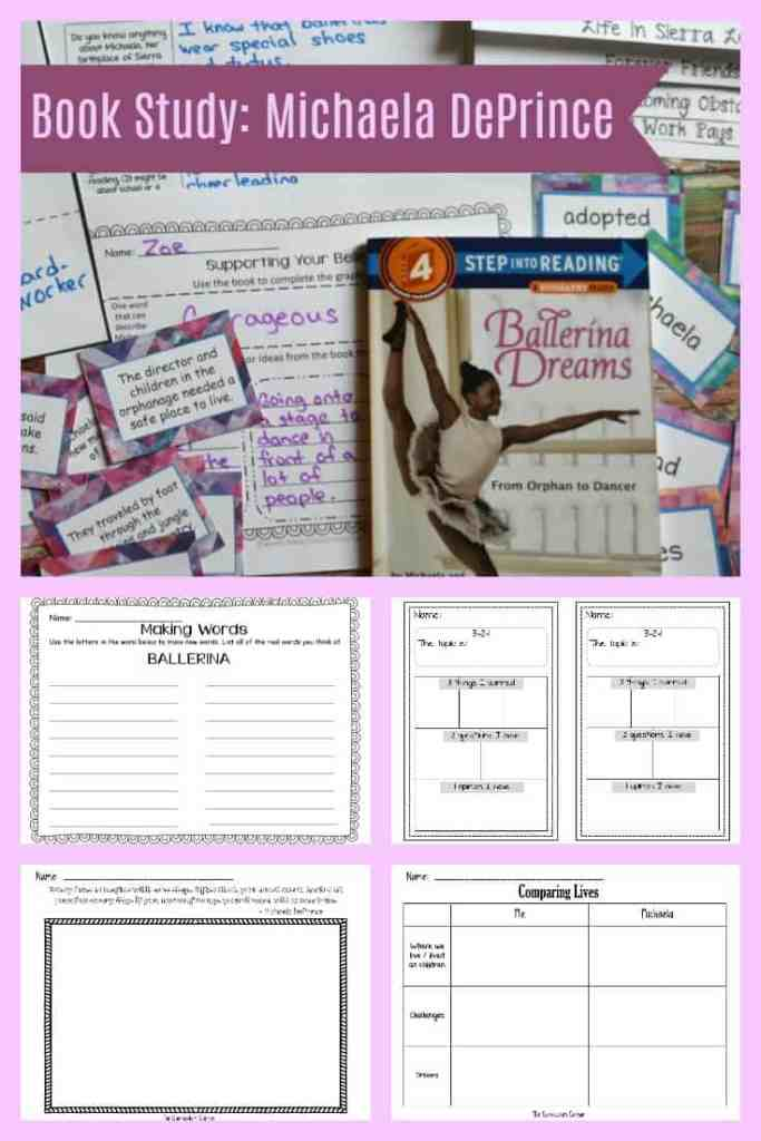 FREE Book Study Ballerina Dreams about Michaela DePrince from The Curriculum Corner 6