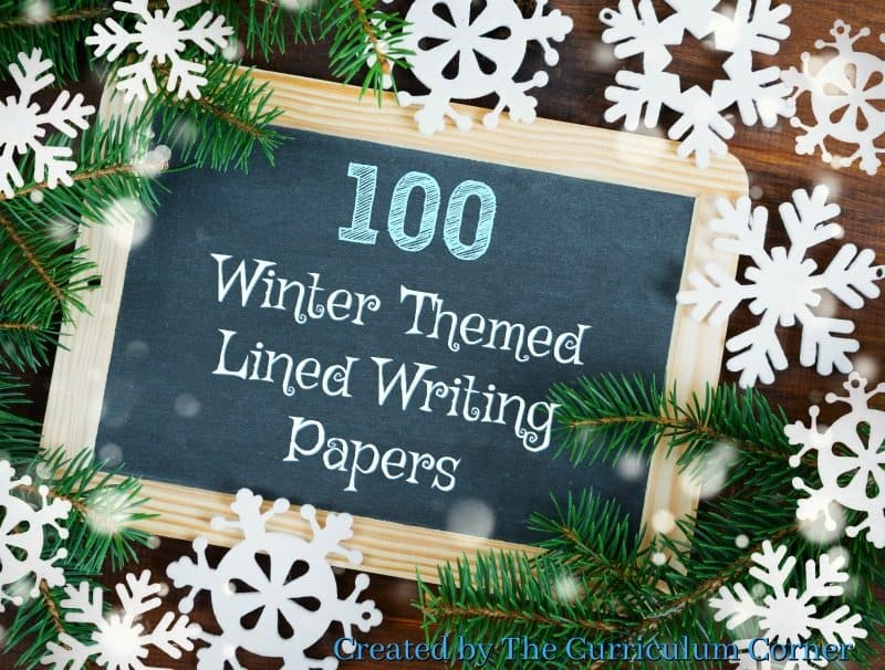 We have created a set of 100 winter lined papers with winter themed clip art to be used during your writing workshop. FREE from The Curriculum Corner