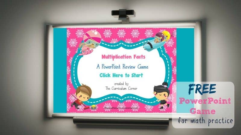 Use this winter multiplication facts PowerPoint game to give your students practice with recalling basic facts. Designed with a winter sports theme.
