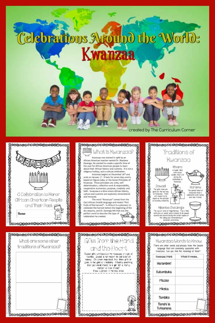 FREE Celebrations Around the World: Kwanzaa booklet from The Curriculum Corner