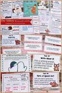 The MItten FREE literacy center activities from The Curriculum Corner