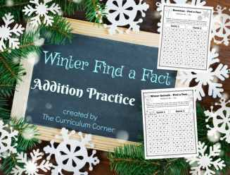These winter addition fact practice games are designed to offer basic fact practice in a fun and engaging format!