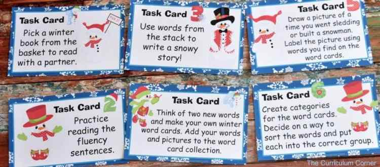 Winter Word Work FREEBIES from The Curriculum Corner 6