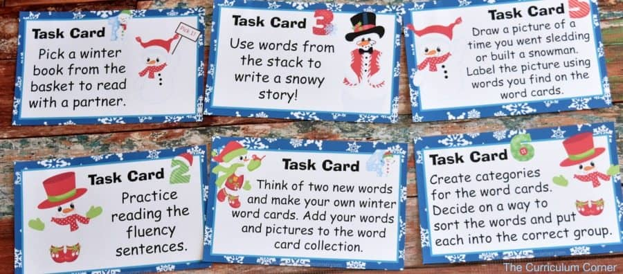 Winter Word Work FREEBIES from The Curriculum Corner 6
