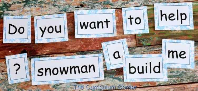 Winter Word Work FREEBIES from The Curriculum Corner 2