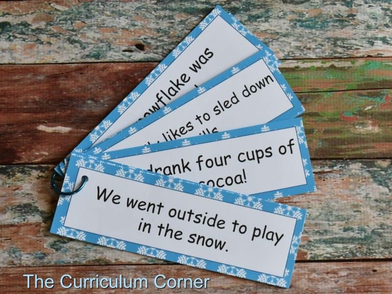 Winter Word Work FREEBIES from The Curriculum Corner 2