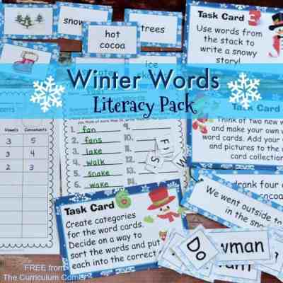 Winter Words Literacy Set