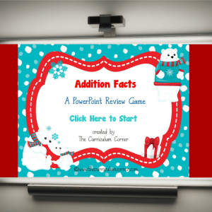 FREE Addition Facts PowerPoint Game from The Curriculum Corner