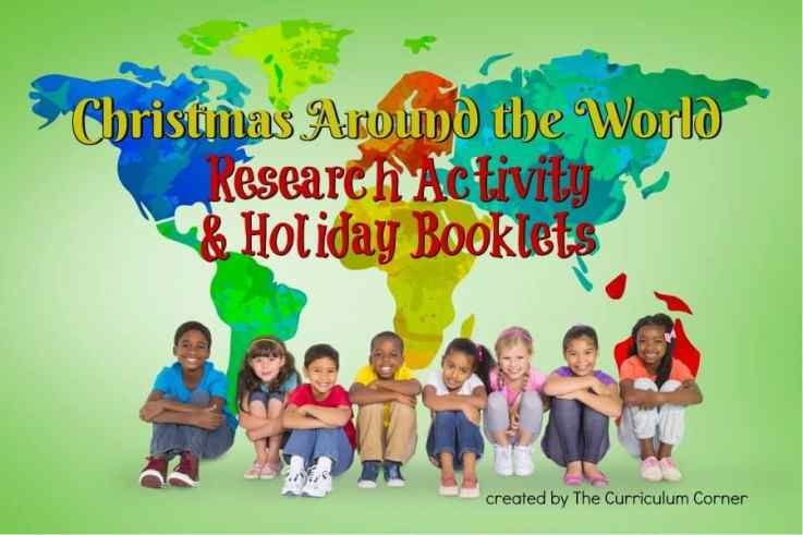 Celebrate Christmas Around the World in your classroom with this research activity & includes activity booklets for each each holiday.