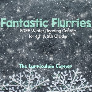 FREE Winter Reading Centers for 4th and 5th Grades