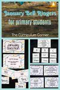 January Bell Ringers FREE from The Curriculum Corner