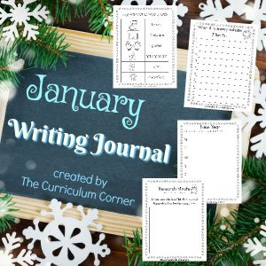 FREE January Writing Journal from The Curriculum Corner