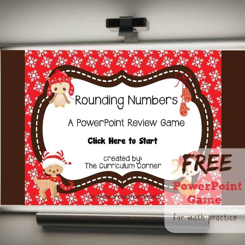 FREE Rounding Numbers Math PowerPoint Game from The Curriculum Corner