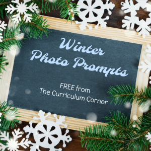 Winter Photo Prompts with Word Banks FREE from The Curriculum Corner