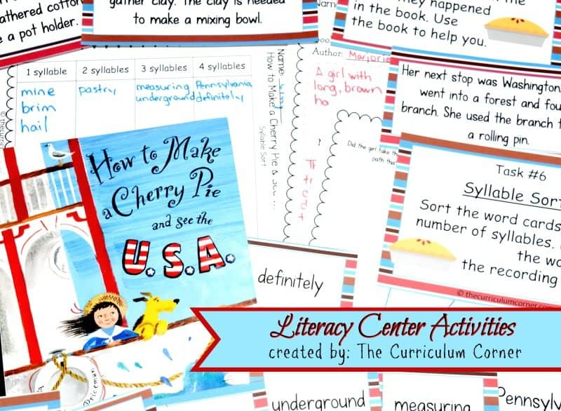 How to Make a Cherry Pie and See the U.S.A.FREE Book Study from The Curriculum Corner