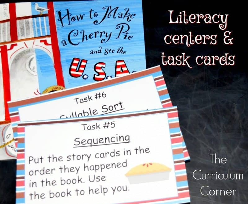 How to Make a Cherry Pie and See the U.S.A.FREE Book Study from The Curriculum Corner 3