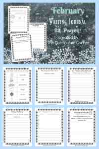FREE February Writing Journal from The Curriculum Corner