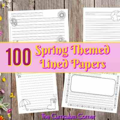 Spring Lined Writing Papers