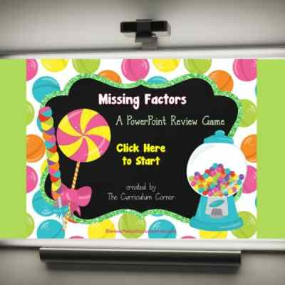 Candy Missing Factors PowerPoint Game